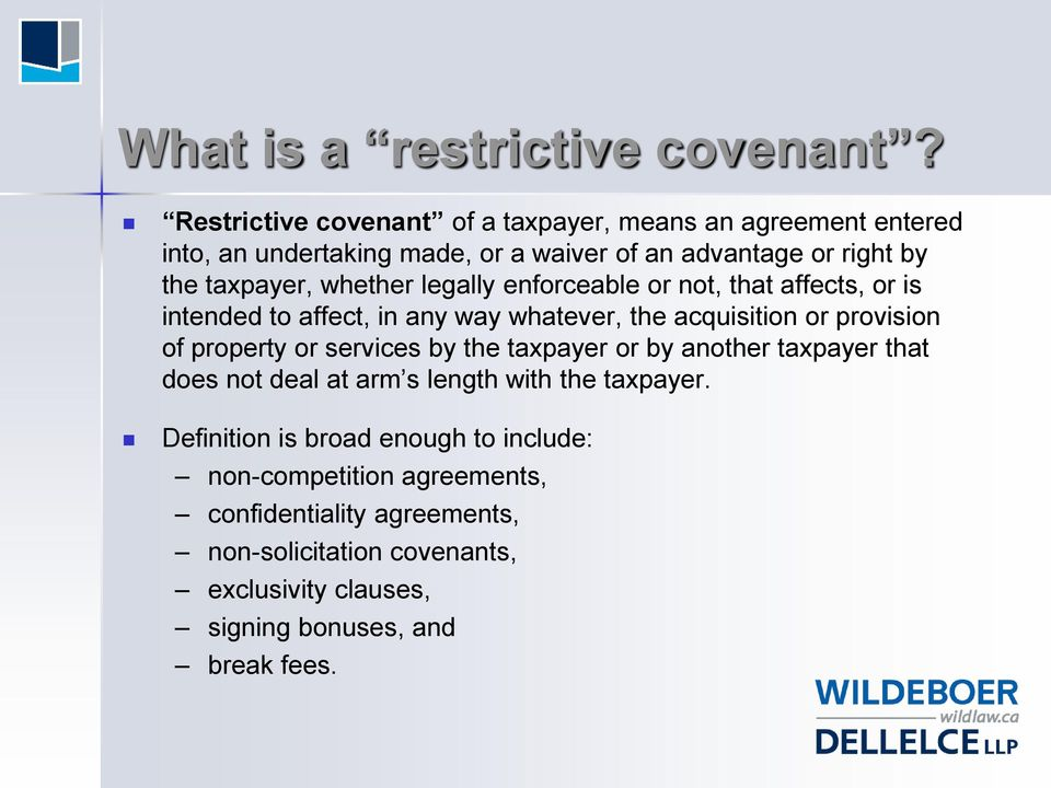 Restraint Of Trade Restrictive Covenants In Employment And