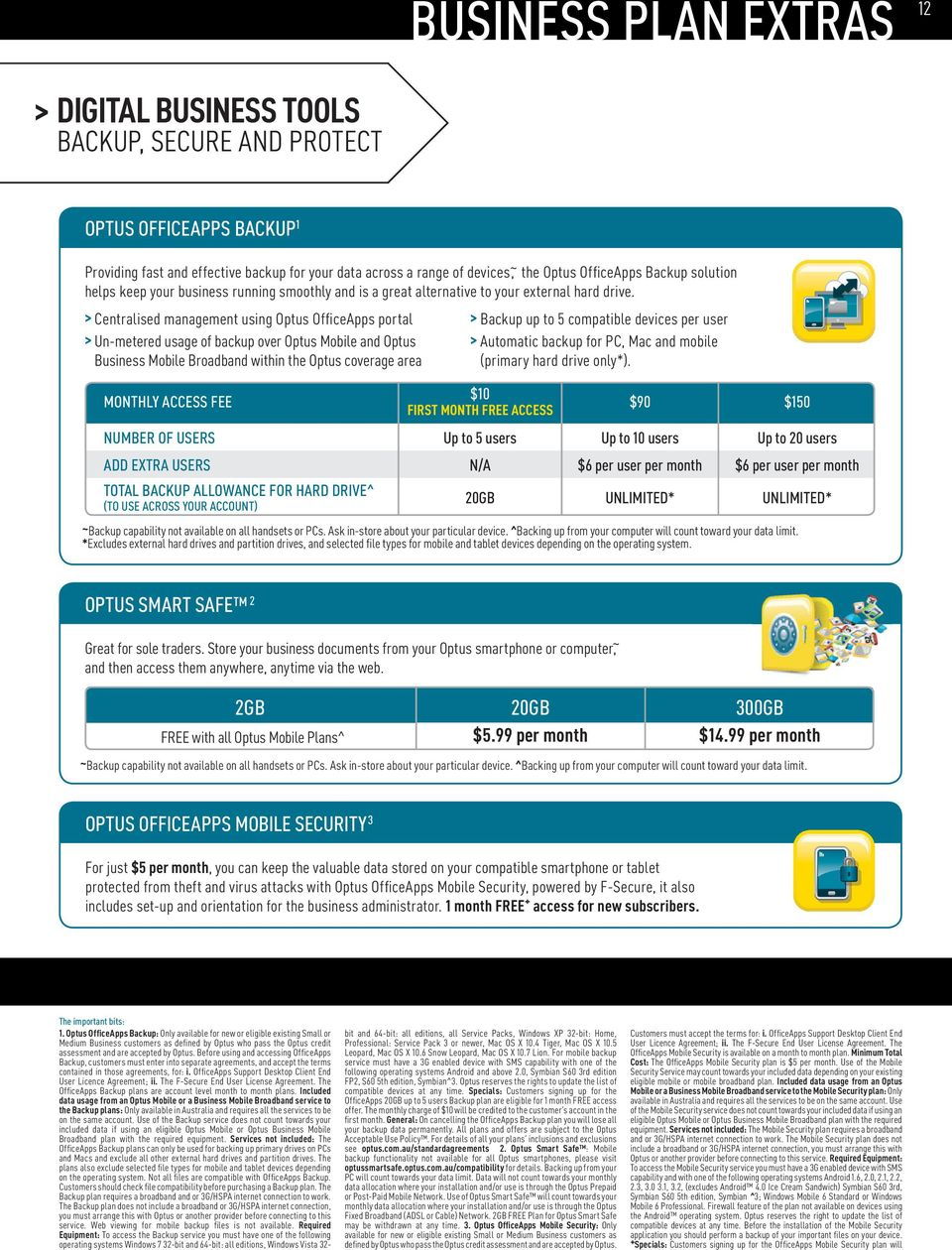 FREE BROADBAND OPTUS REWARDS YOUR BUSINESS WITH OUR $89