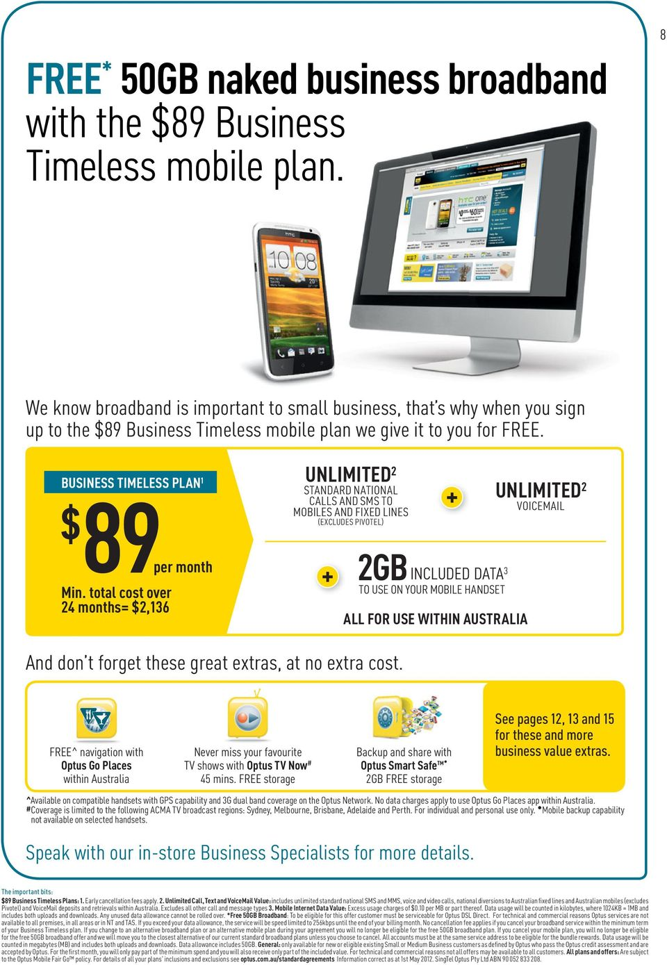 optus 99 timeless business plan