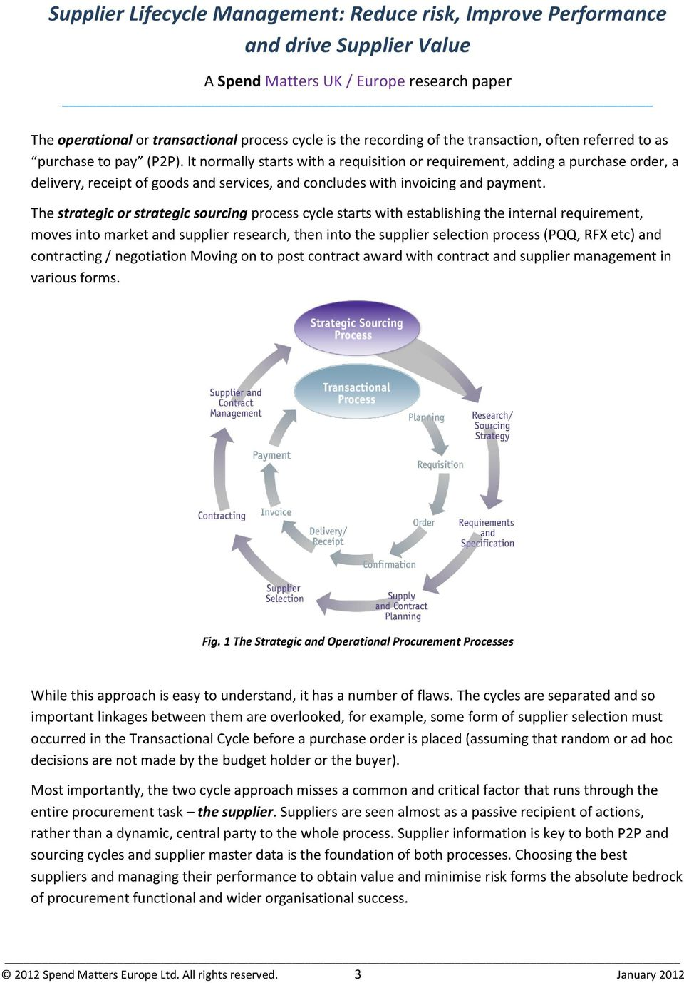 White Paper  Supplier Lifecycle Management: Reduce risk