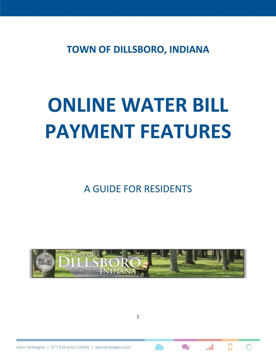 ONLINE WATER BILL PAYMENT FEATURES - PDF