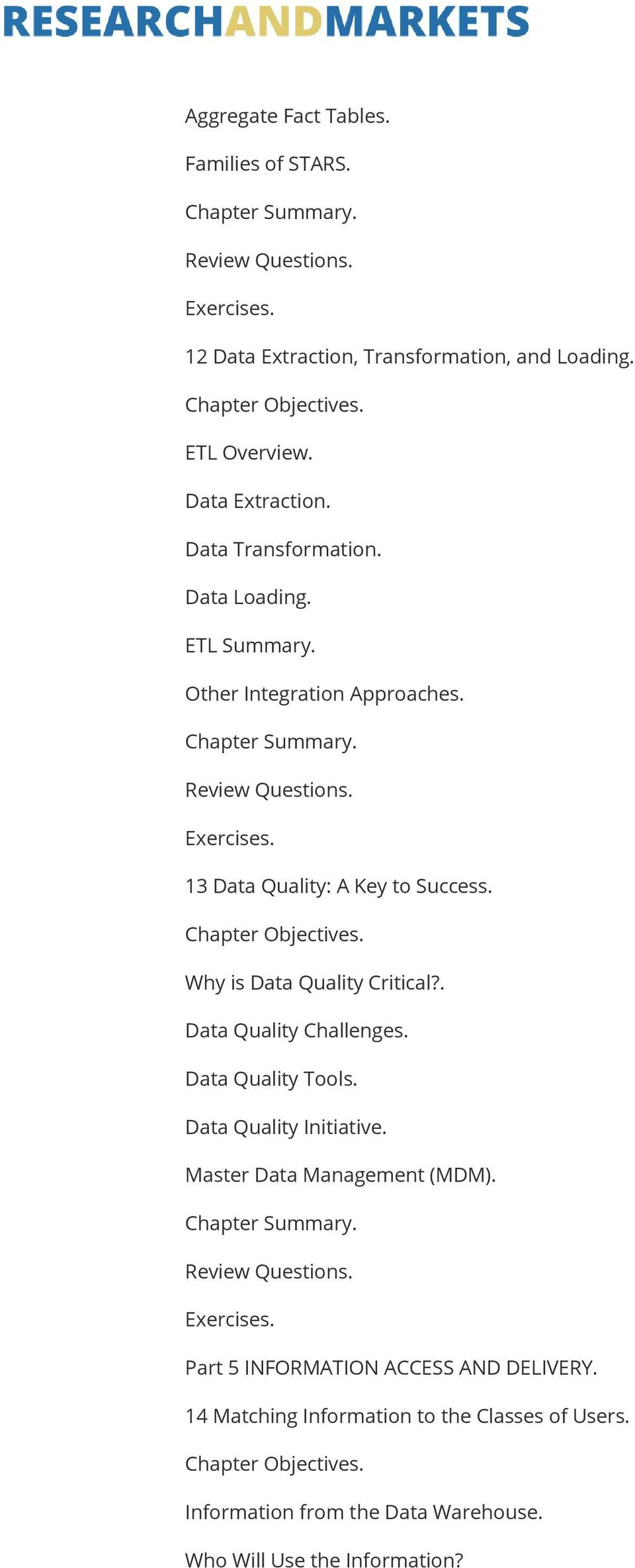 . Data Quality Challenges. Data Quality Tools. Data Quality Initiative. Master Data Management (MDM).
