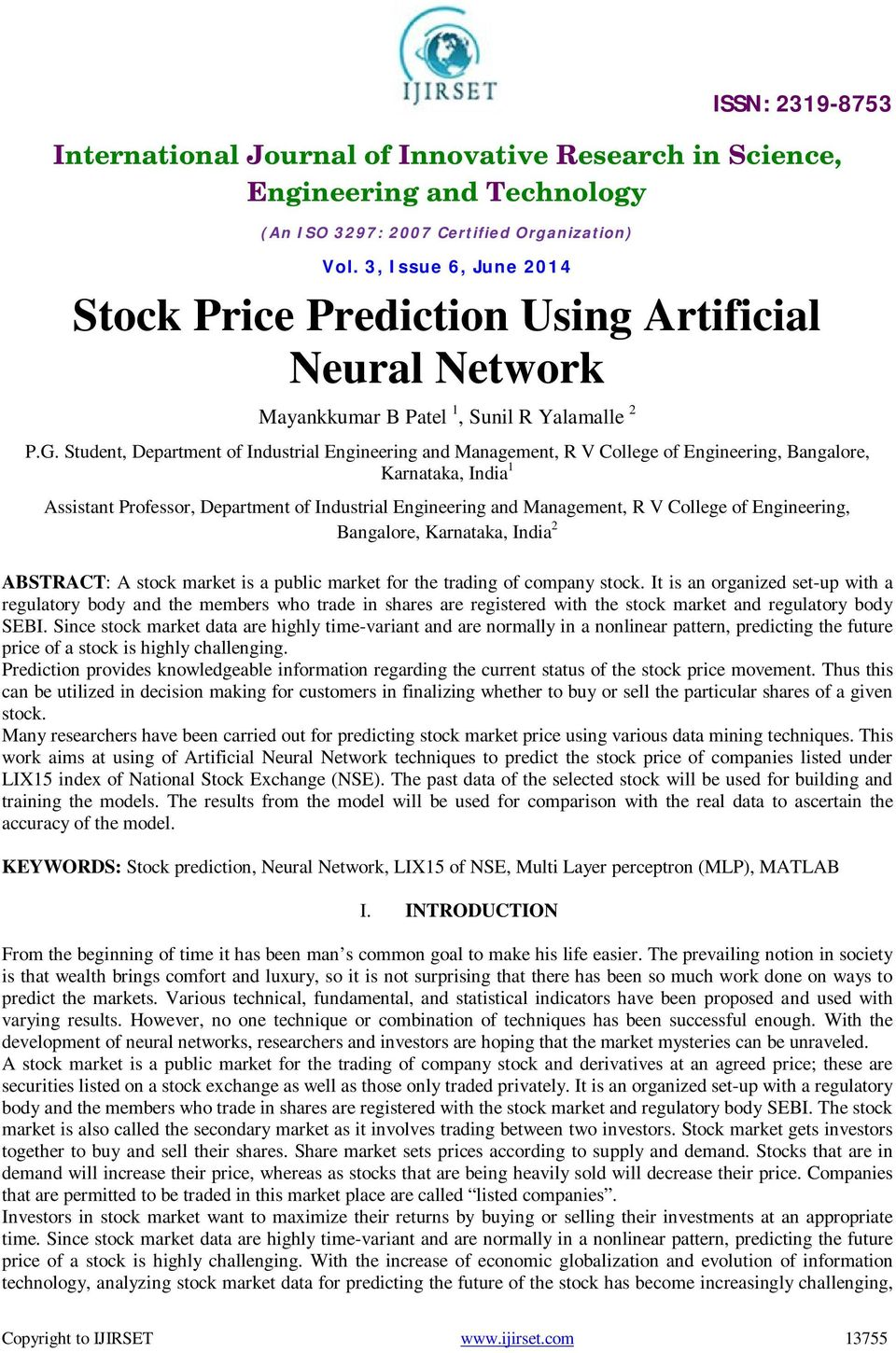 Stock Price Prediction Using Artificial Neural Network - PDF