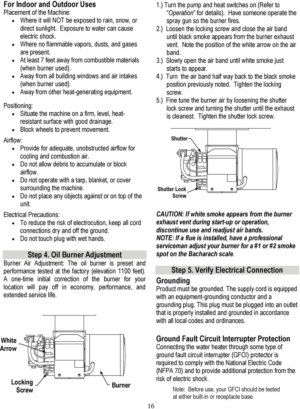 Owner s Manual Industrial Water Heater Instructions for Set