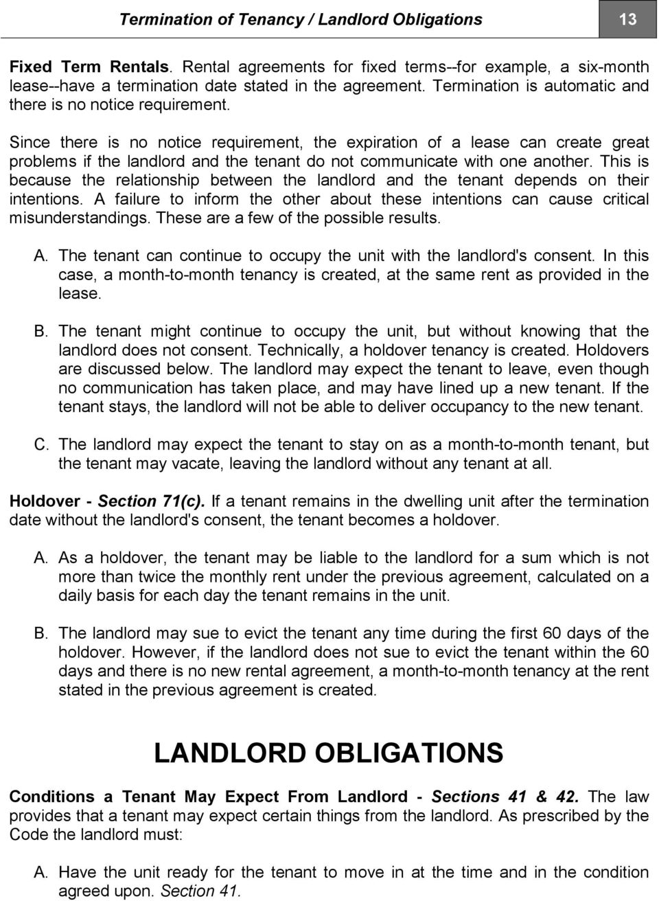 This Handbook Highlights Areas Of The Landlord Tenant Code