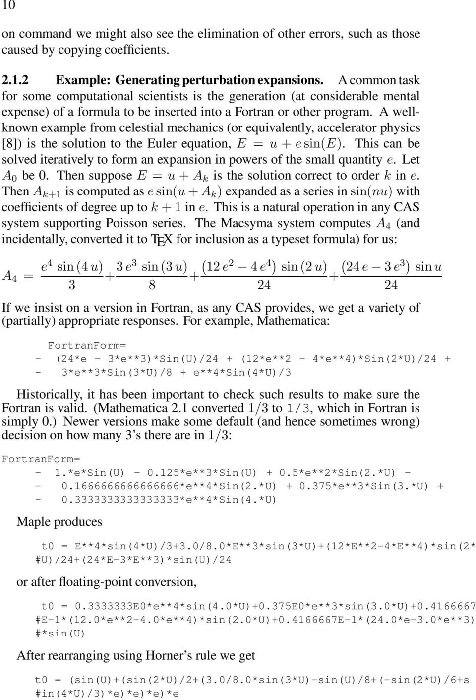 Chapter 1 PROBLEM SOLVING ENVIRONMENTS AND SYMBOLIC COMPUTING 1
