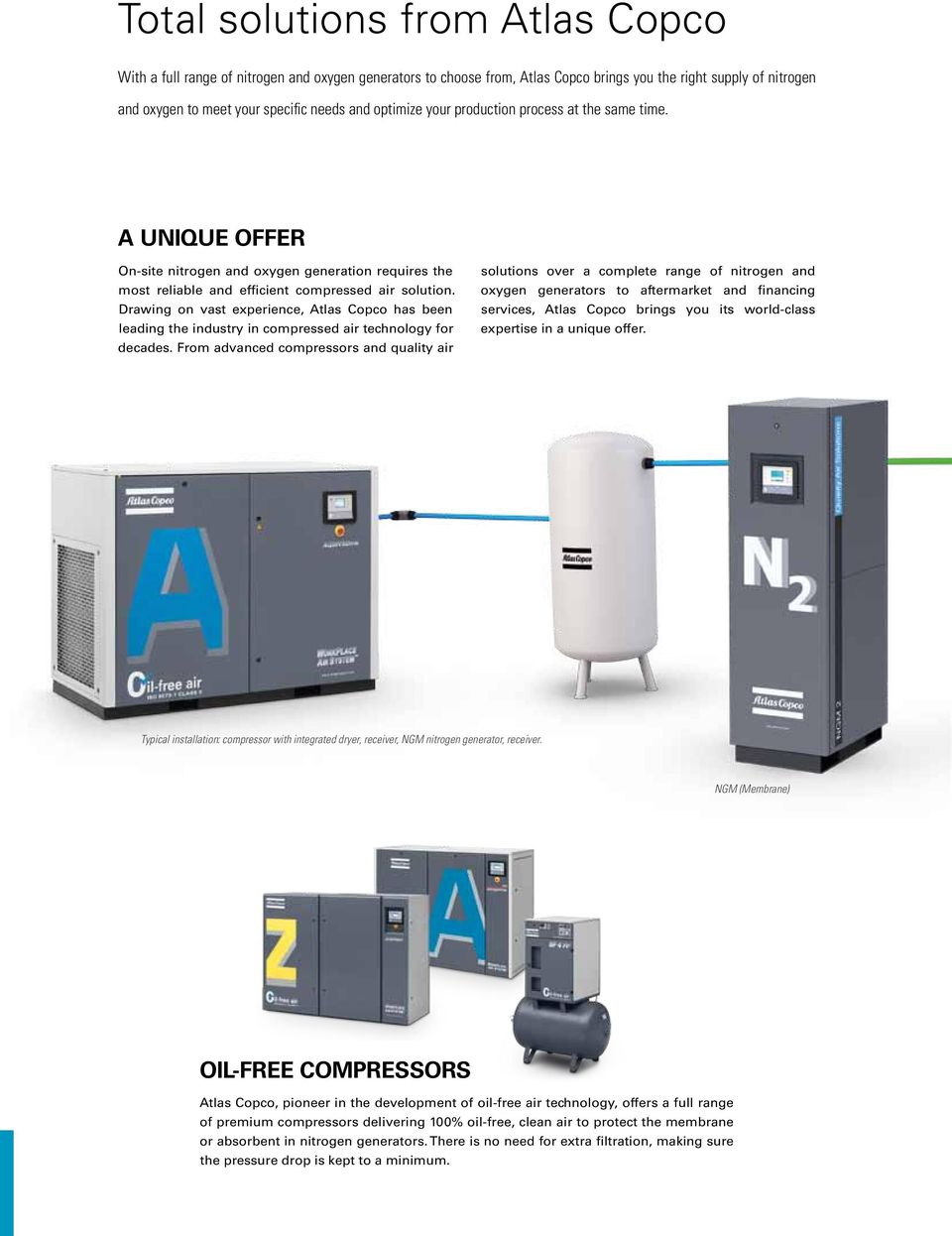 Atlas Copco On Site Industrial Gases Nitrogen Oxygen Generators Pdf Generator Wiring Diagram Drawing Vast Experience Has Been Leading The Industry In Compressed Air Technology