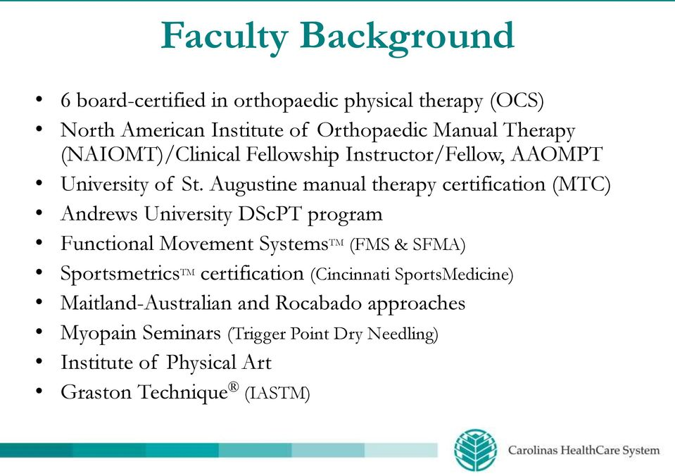 Orthopaedic Physical Therapy Clinical Residency Program Overview Pdf