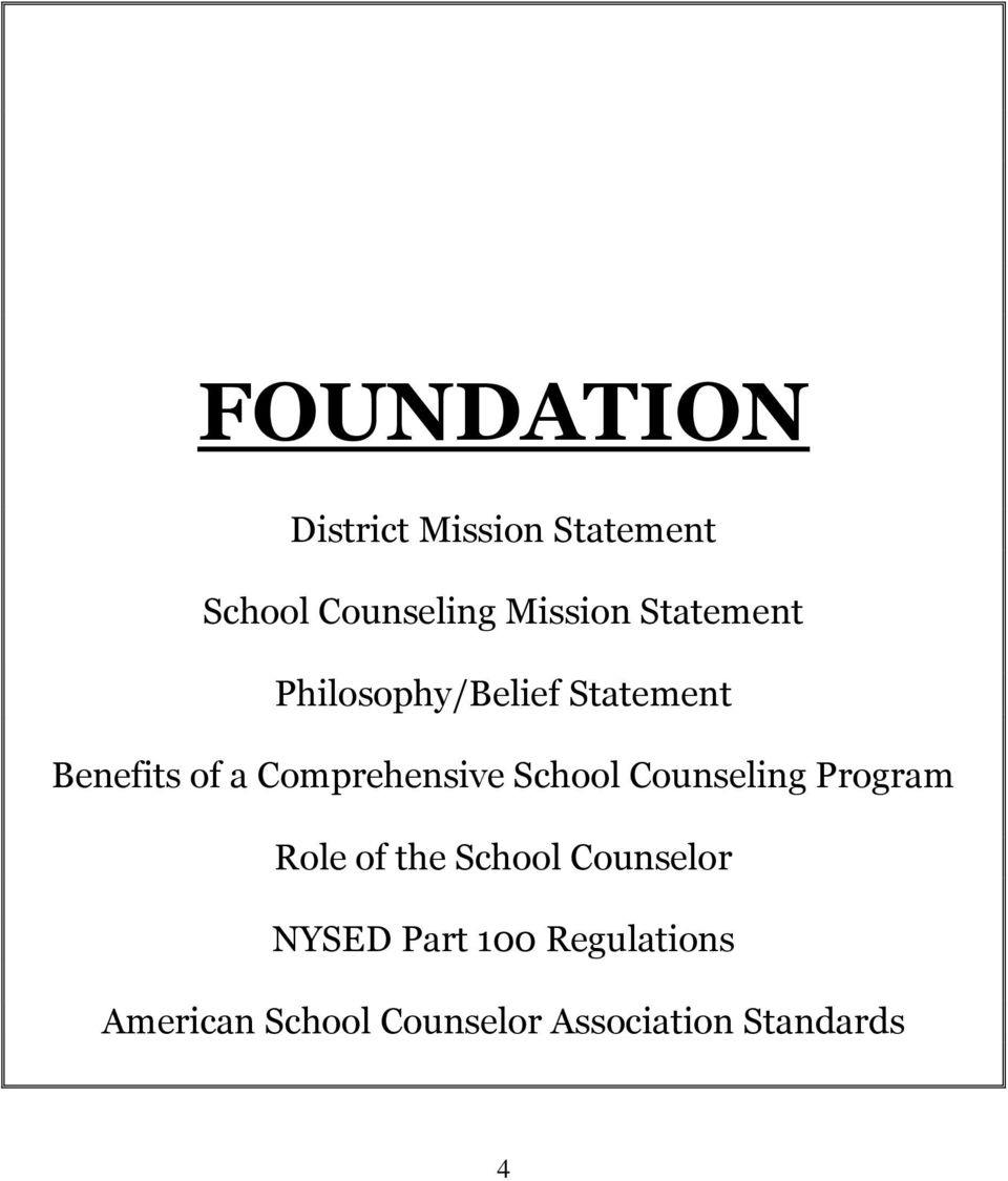 School Counseling Program Role of the School Counselor NYSED Part