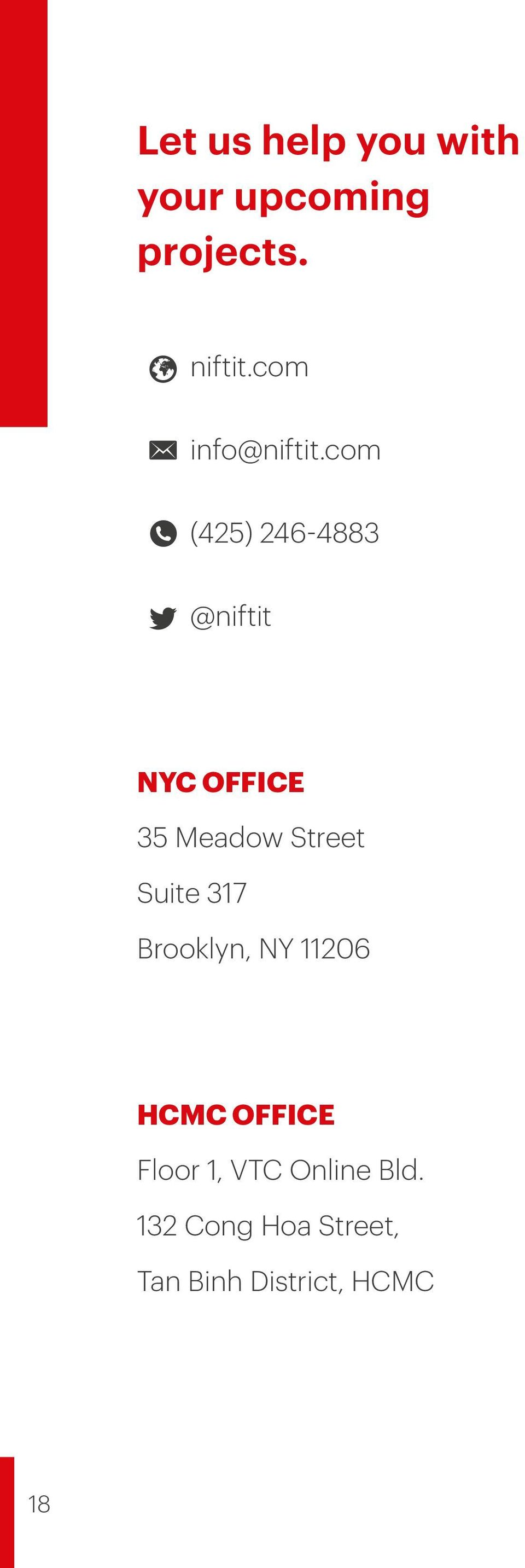 com (425) 246-4883 @niftit NYC OFFICE 35 Meadow Street