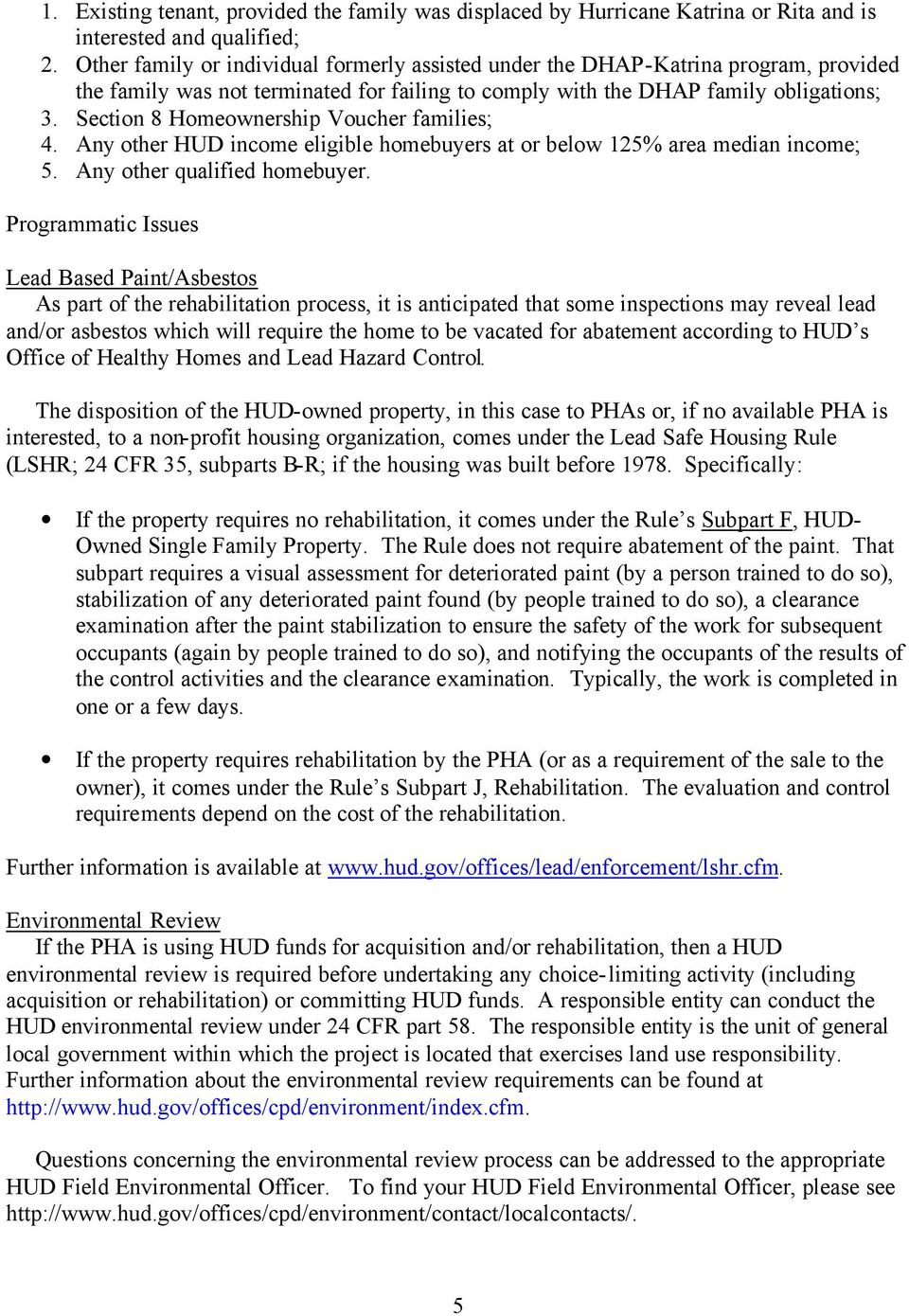 Subject: Revised Information and Procedures for PHAs to