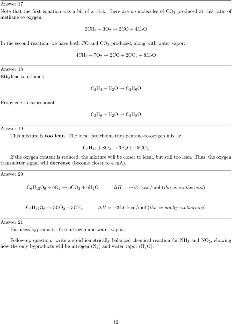 Balancing chemical reaction equations (stoichiometry) - PDF