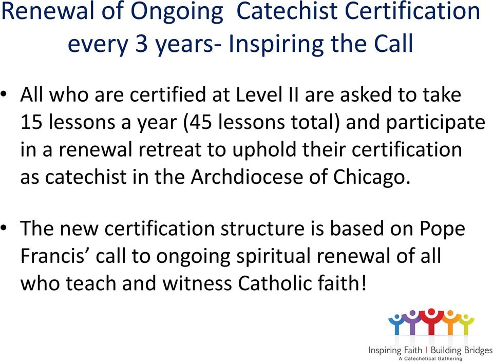 Forming Engaged Church Catechists And Teachers Certification Program