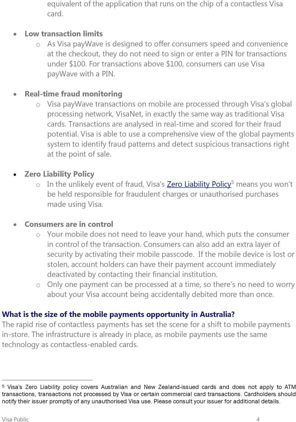 About Visa paywave for mobile - PDF
