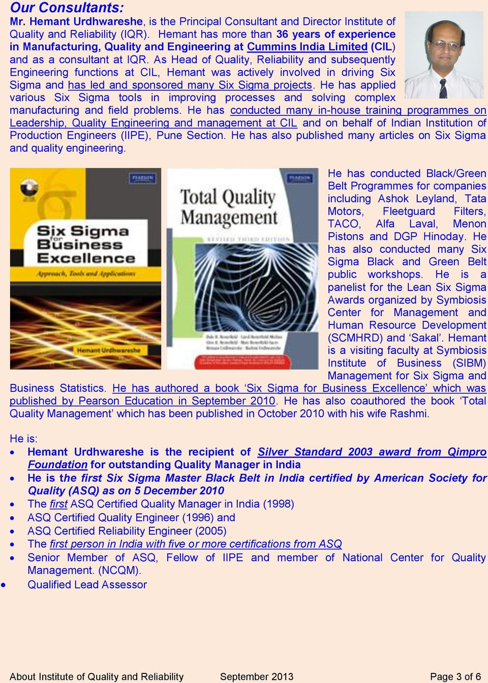 Institute Of Quality And Reliability Pdf