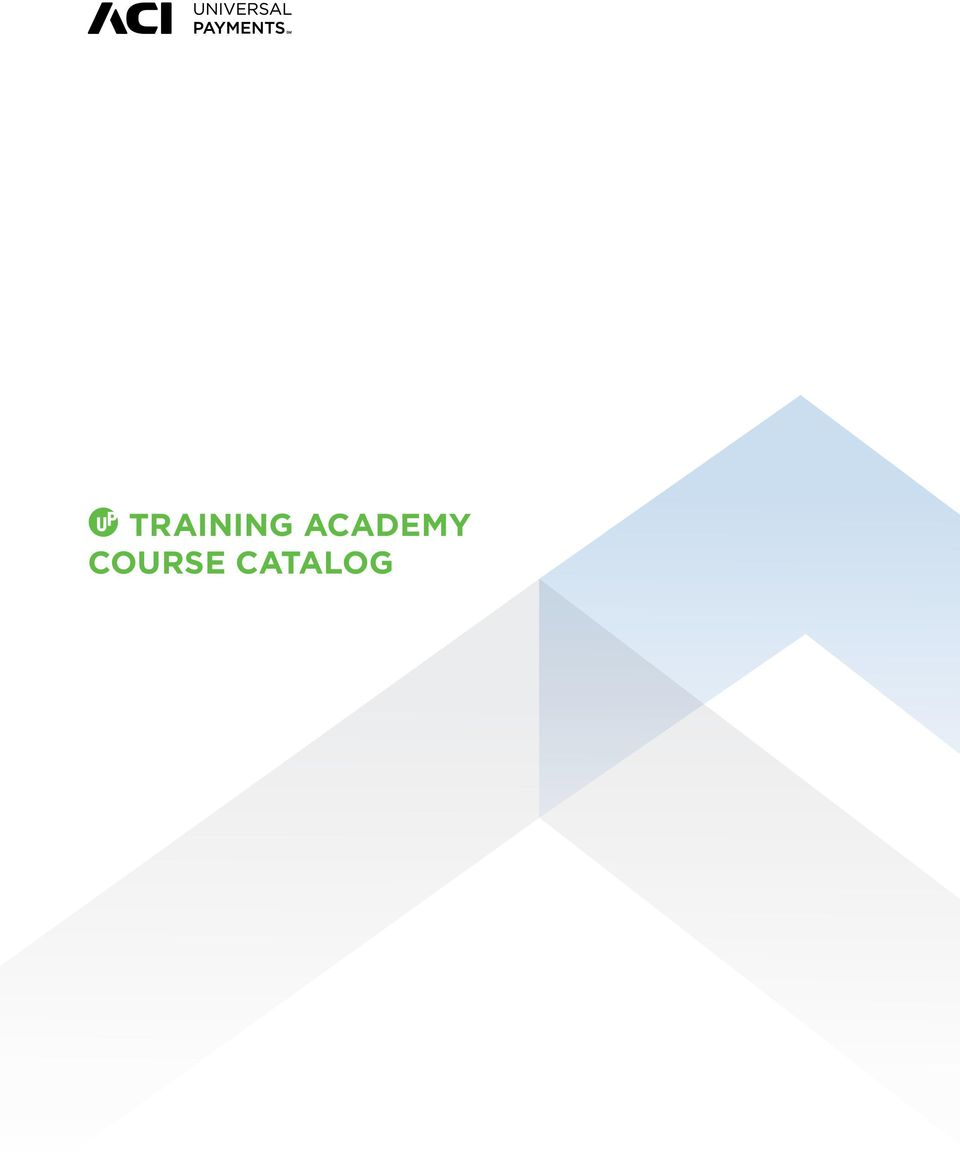 TRAINING ACADEMY COURSE CATALOG - PDF