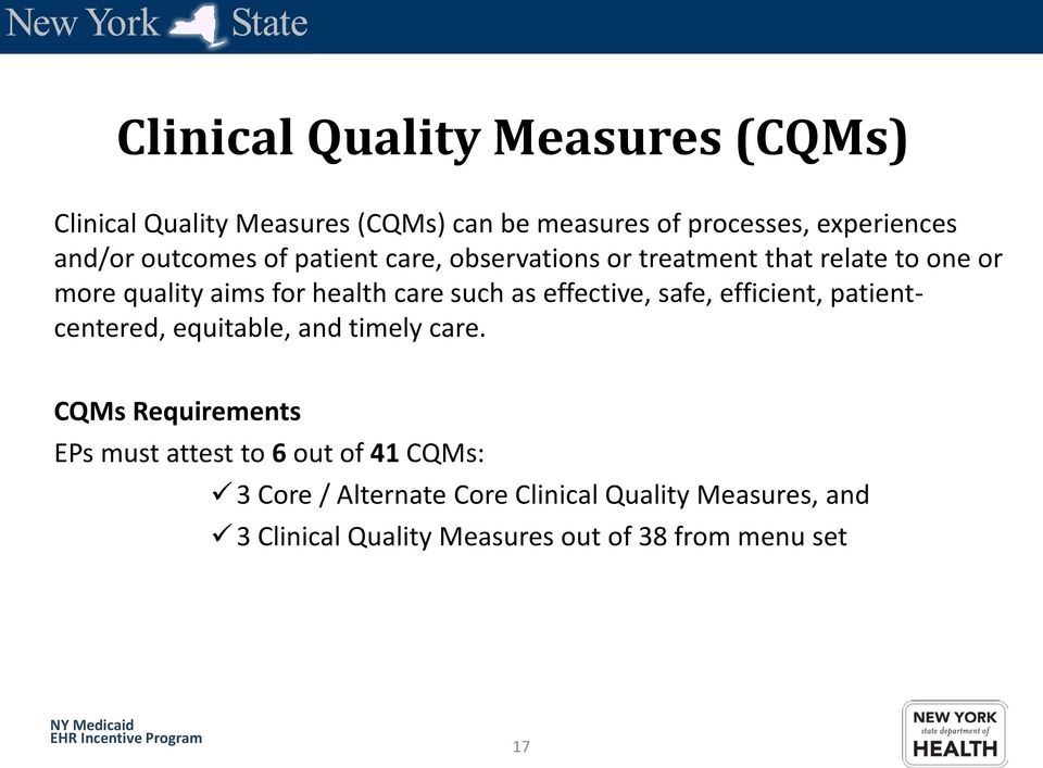 effective, safe, efficient, patientcentered, equitable, and timely care.
