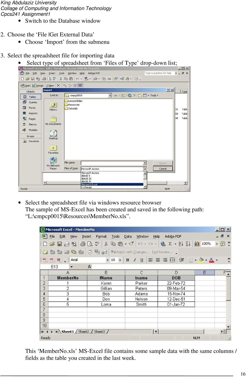 Creating a New MS-Access Database - PDF