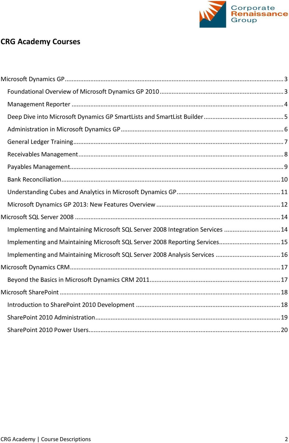 .. 10 Understanding Cubes and Analytics in Microsoft Dynamics GP... 11 Microsoft Dynamics GP 2013: New Features Overview... 12 Microsoft SQL Server 2008.