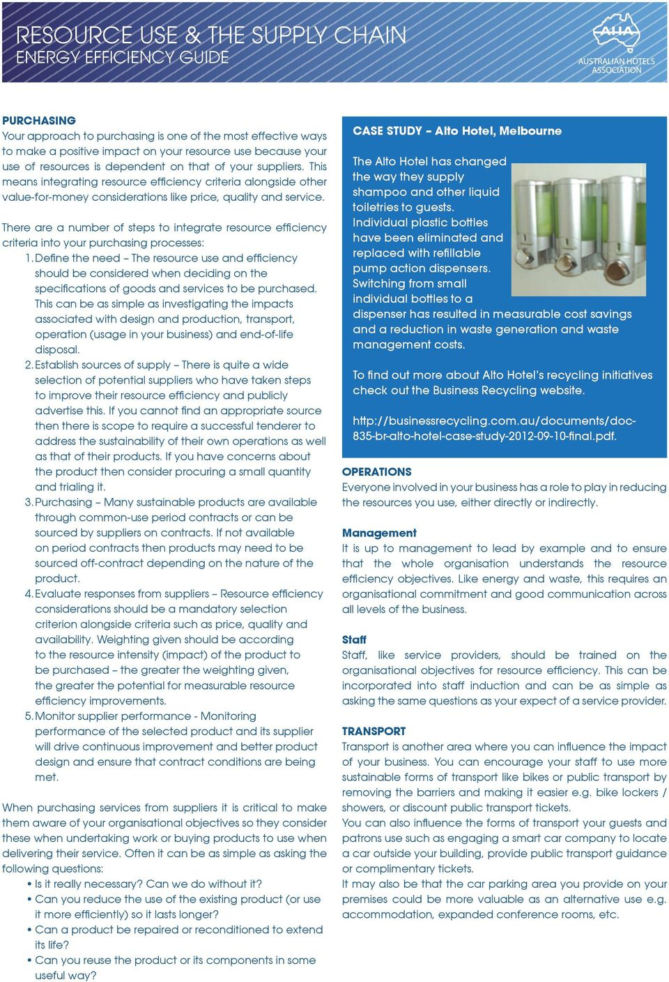 RESOURCE USE & THE SUPPLY CHAIN - PDF