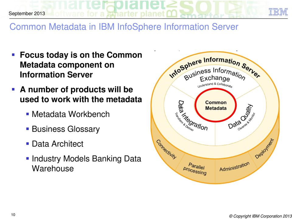 products will be used to work with the metadata Metadata Workbench