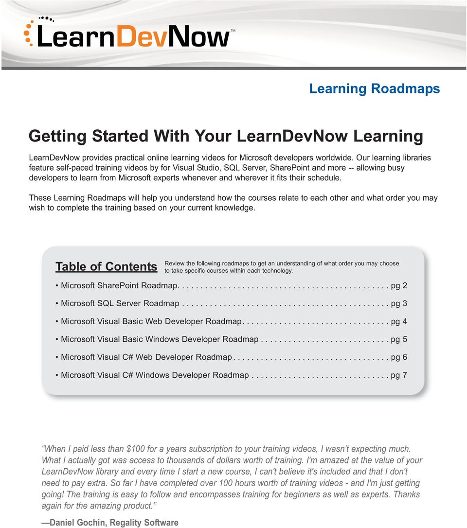 Getting Started With Your LearnDevNow Learning - PDF