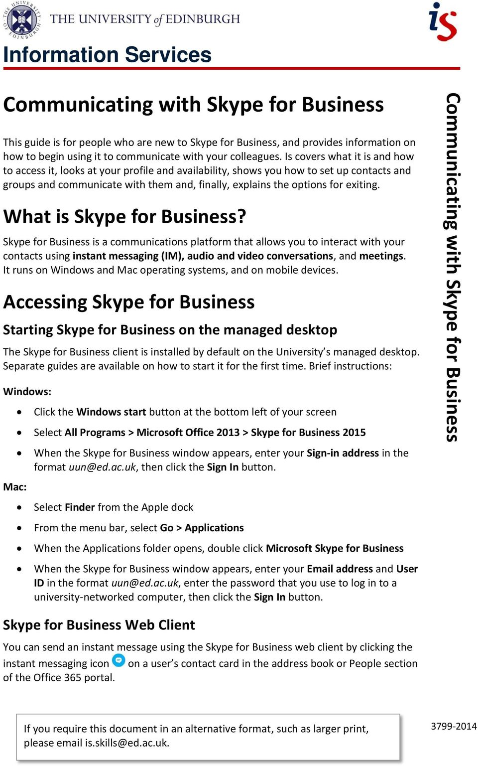 Communicating with Skype for Business - PDF