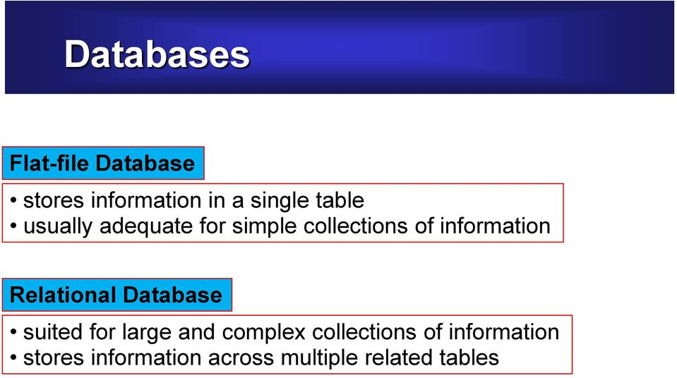 Relational Database suited for large and complex collections