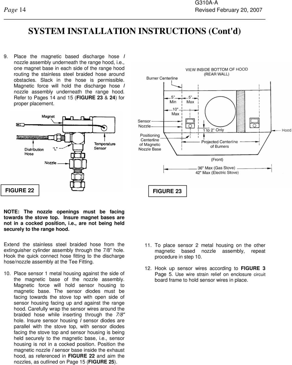 Owners Manual For Installation Operation And Maintenance Pdf E One Wiring Diagram Figure 22 23 Note The Nozzle Openings Must Be Facing Towards Stove Top