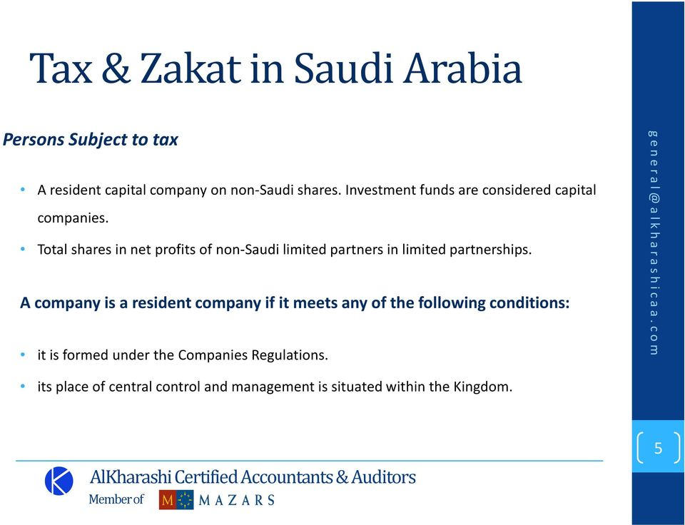 Total shares in net profits of non-saudi limited partners in limited partnerships.