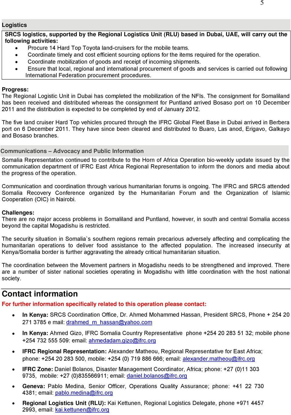Emergency appeal operations update Somalia: Drought - PDF