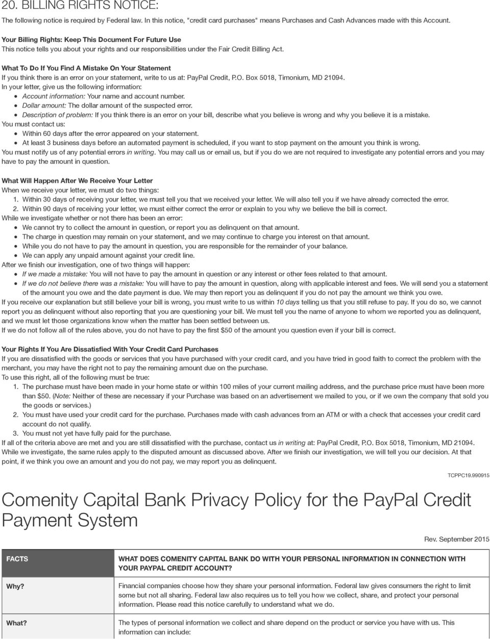 Paypal Credit Limit