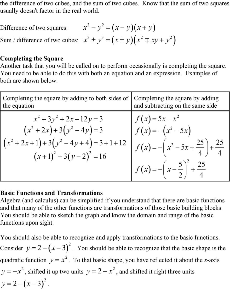 You need to be able to do this with both an equation and an epession. Eamples of both ae shown below.