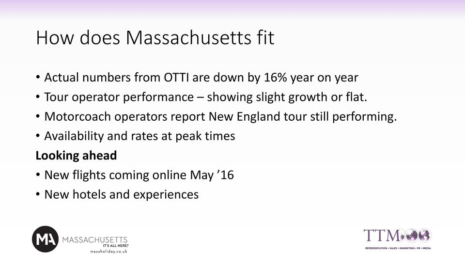 Motorcoach operators report New England tour still performing.