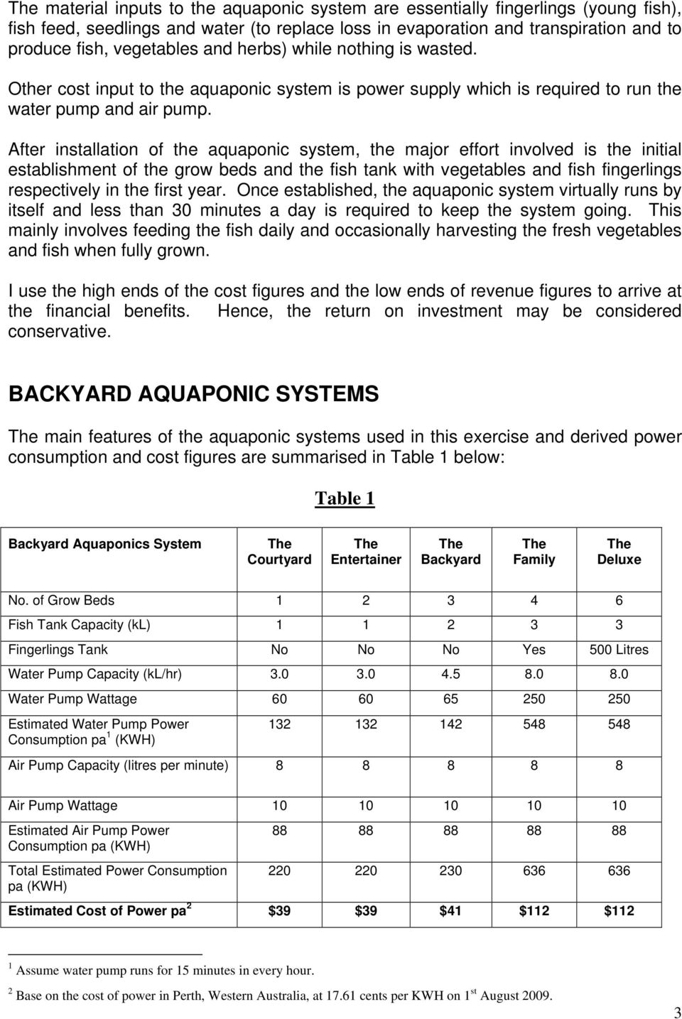 Cost/Benefit Analysis of Aquaponic Systems - PDF