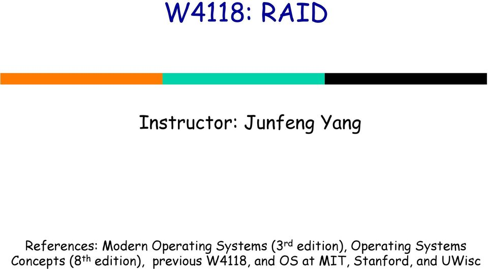 edition), Operating Systems Concepts (8 th