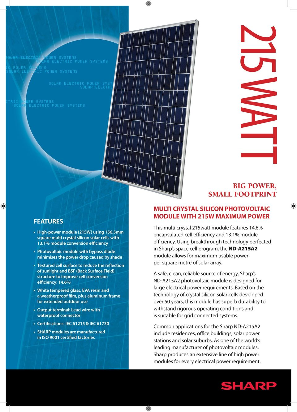 Your Sharp System Will Be Supplied With One Of The Following Sets Grid Solar Panel Bypass Schematic Structure To Improve Cell Conversion Efficiency 14