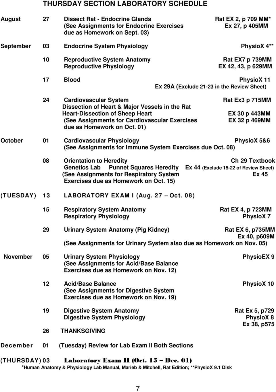 ANATOMY & PHYSIOLOGY II (BIOL Credit Hours) Fall Semester PDF