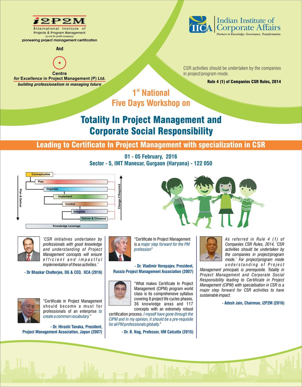 Totality In Project Management And Corporate Social Responsibility Pdf
