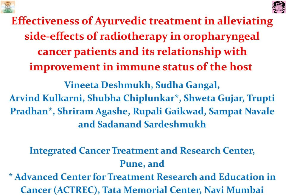 Integrated Cancer Treatment and Research Centre Wagholi