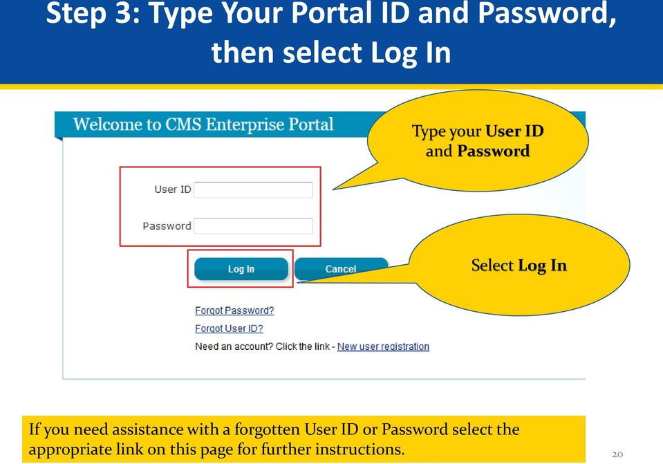 need assistance with a forgotten User ID or Password
