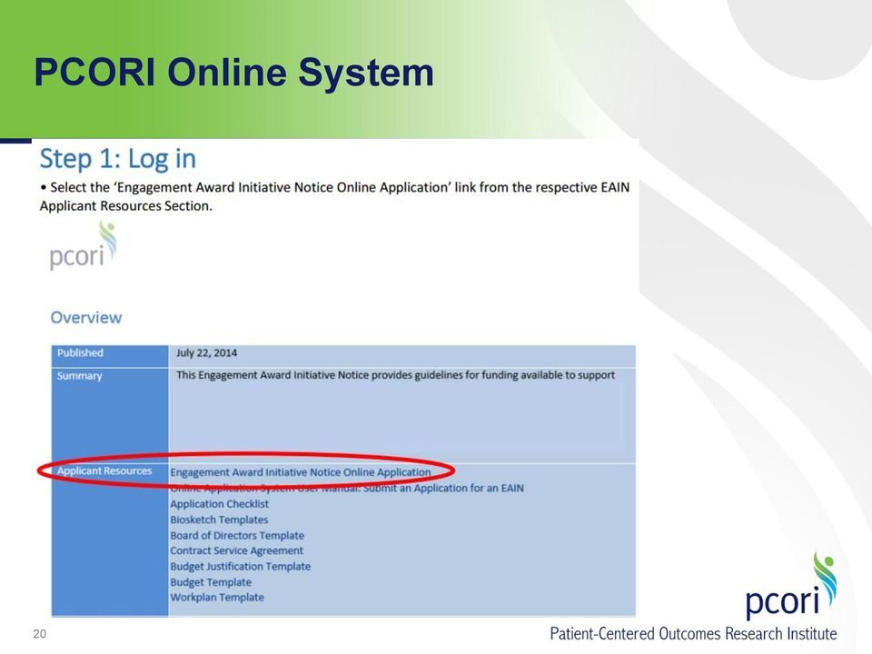 Supporting Dissemination And Implementation For The Pcori Pilot