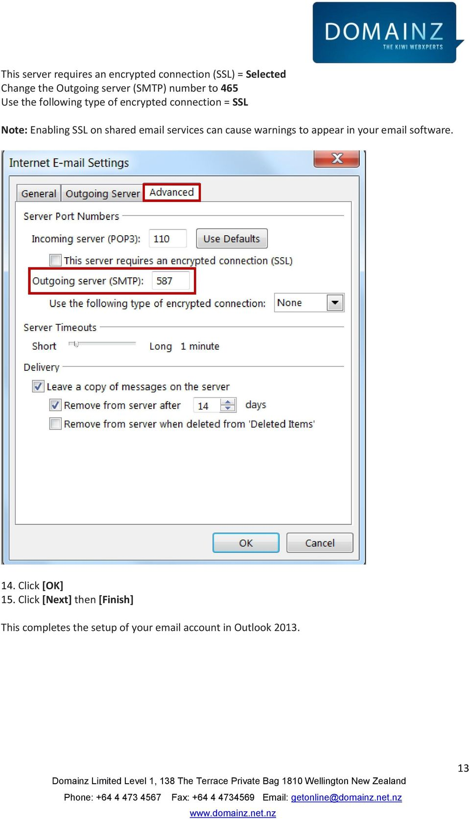 on shared email services can cause warnings to appear in your email software. 14.