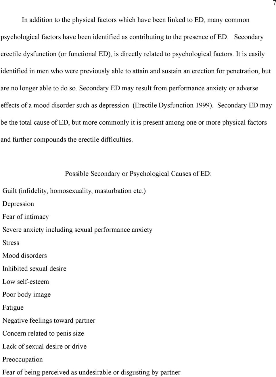 Sexual dysfunction secondary to depressive disorders
