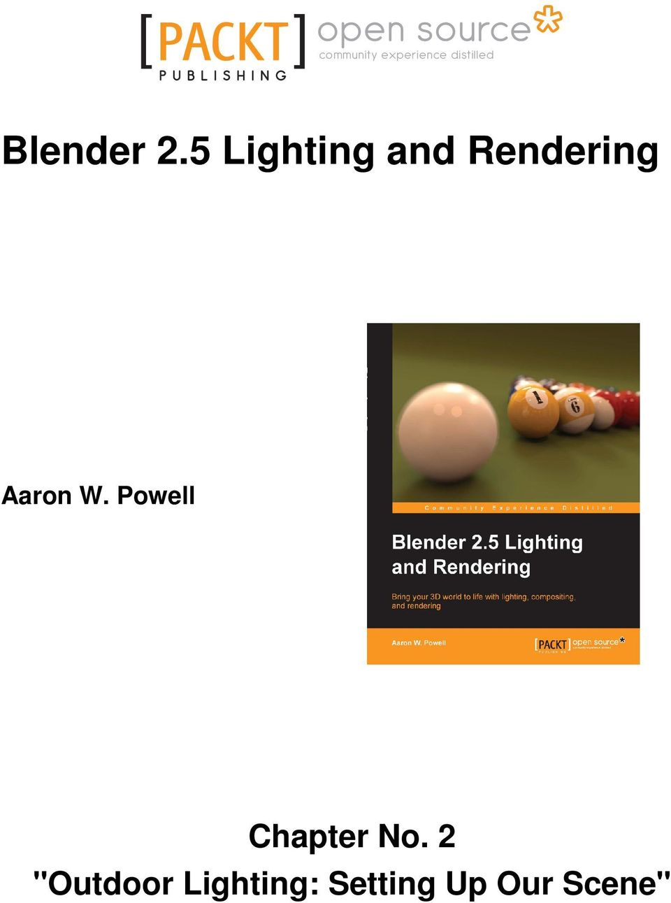 Blender 2 5 Lighting and Rendering - PDF