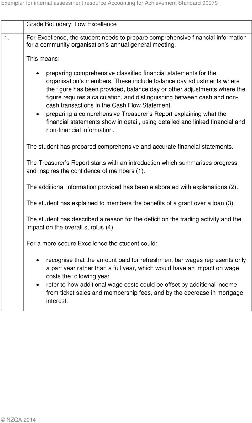 exemplar for internal achievement standard accounting level 1 pdf