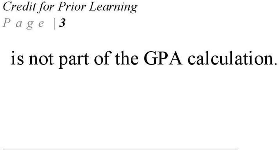 of the GPA