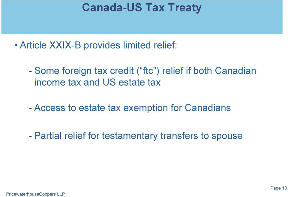 tax and US estate tax - Access to estate tax exemption for