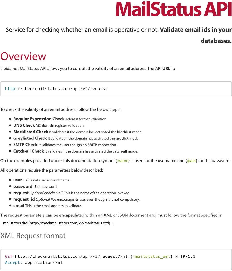 Service for checking whether an is operative or not
