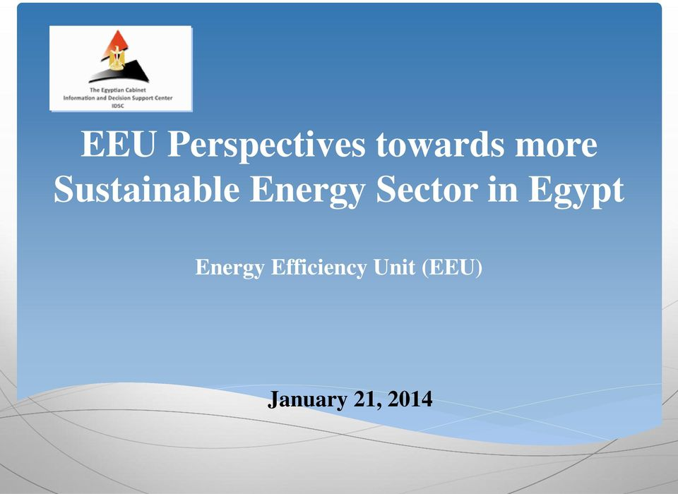 Sector in Egypt Energy